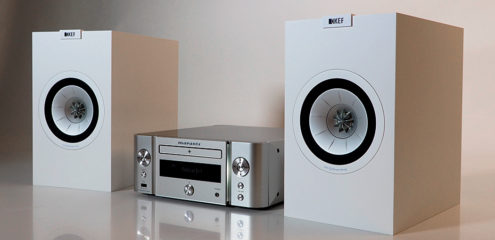 Marantz CR-611 og Kef Q150