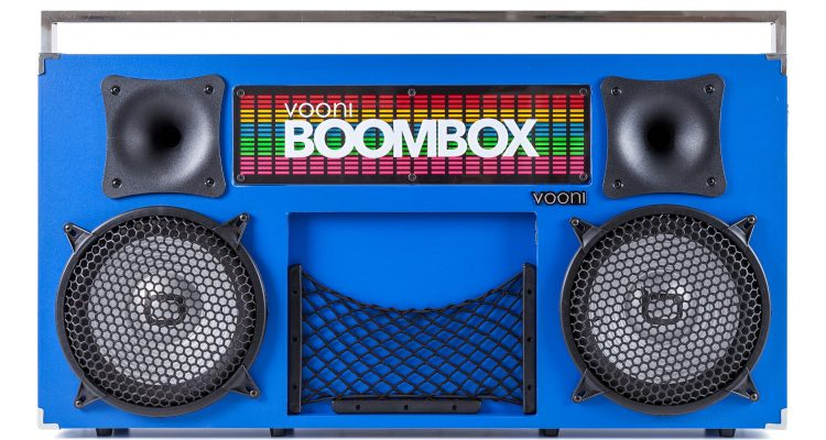 6 trådløse boomboxes