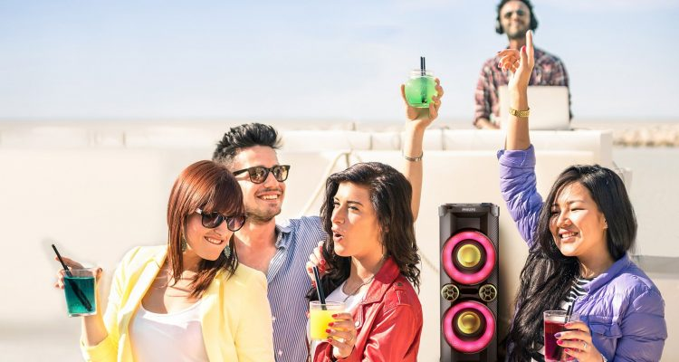 6 party-højttalere