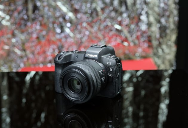 Canon EOS R med RF 35 mm makro, med indbygget billedstabilisering.