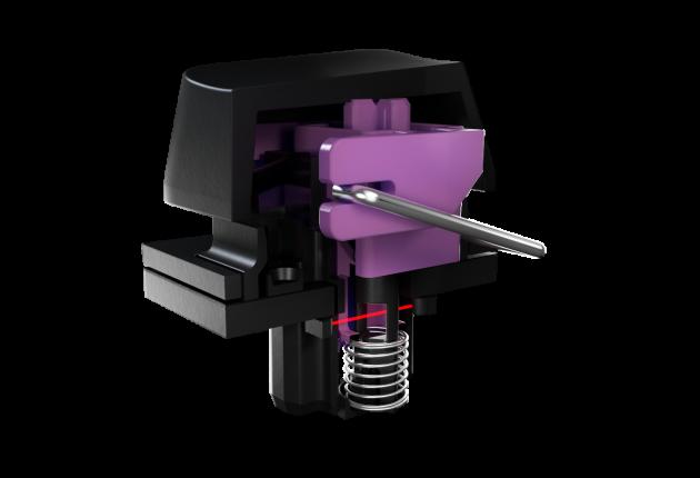Tasterne i Razer Huntsman Elite har mekanisk klik, men optisk aflæsning.