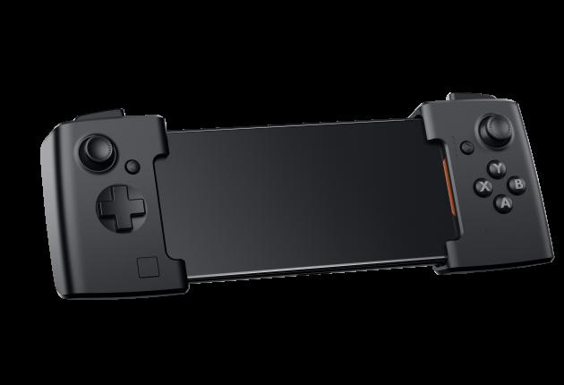 """Man kan købe en ekstraudstyr af alle slags til Asus ROG Phone. Det mest nødvendige er en """"forlænger"""" med indbyggede joysticks."""