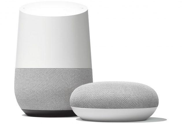 Google Home og Google Home Mini. Foto: Google