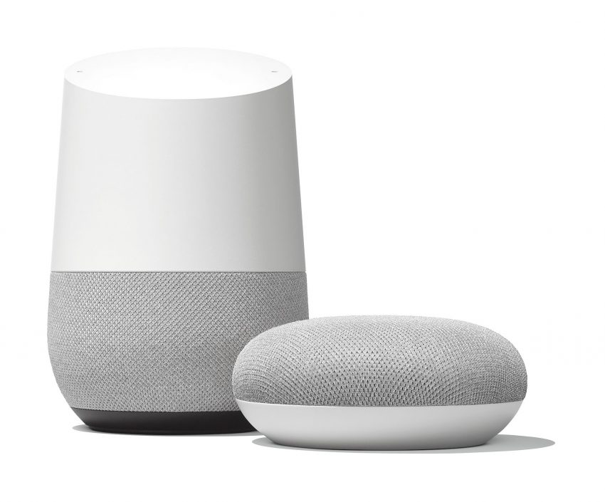 Google Home och Google Home Mini. Foto: Google