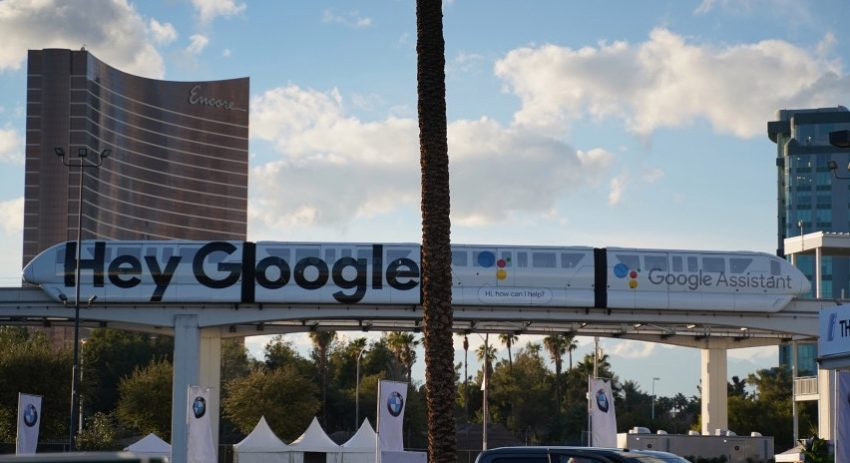 """Hey Google"" syntes överallt i Las Vegas under CES 2019. Foto: 9to5Google"