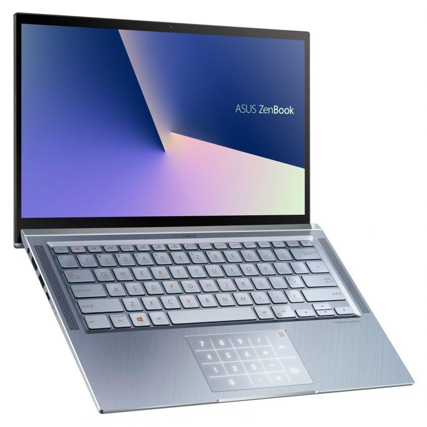 Asus ZenBook 14 UX431 med numeriskt tangentbord i styrplattan. Foto: Asu