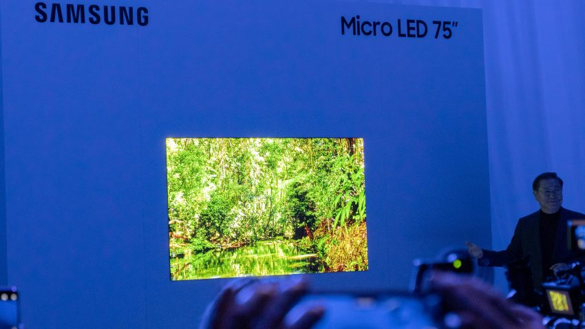 CES 2019: 75 tommers MicroLED fra Samsung