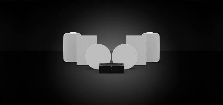Udendørs og indbyggede højttalere fra Sonos