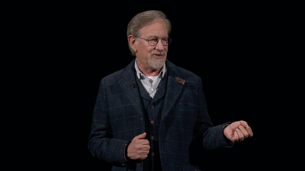 Självaste Steven Spielberg dök upp på scenen för att presentera sin nya TV-serie, Amazing Stories, som bara går att se på Apple TV+. Foto: Ljud & Bild