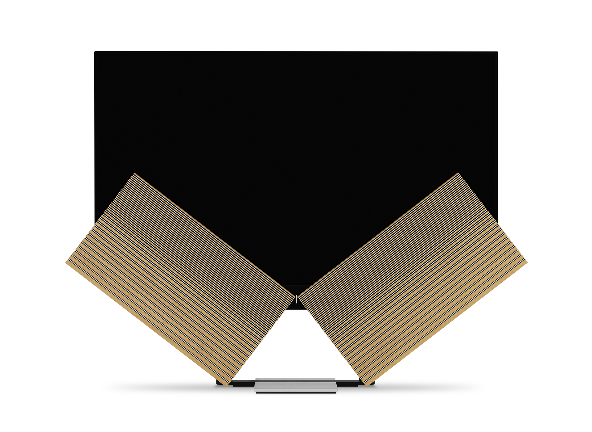 """När TV:n sätts på vecklar """"vingarna"""" ut sig och skärmen lyfts upp. Foto: Bang Olufsen"""