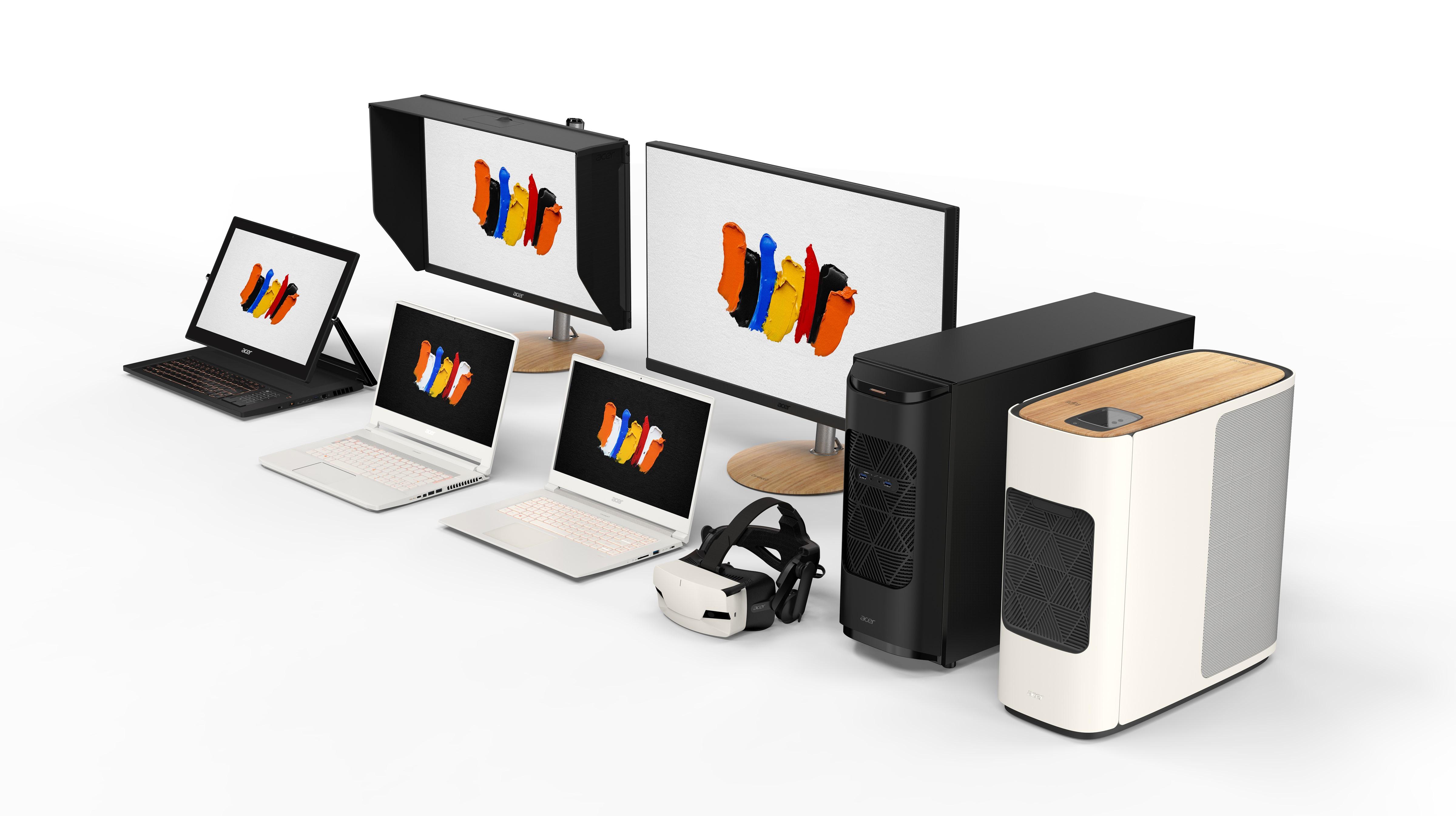 Med ConceptD satsar Acer på de kreativa användarna. Både amatörer och de riktigt tunga professionella. Foto: Acer