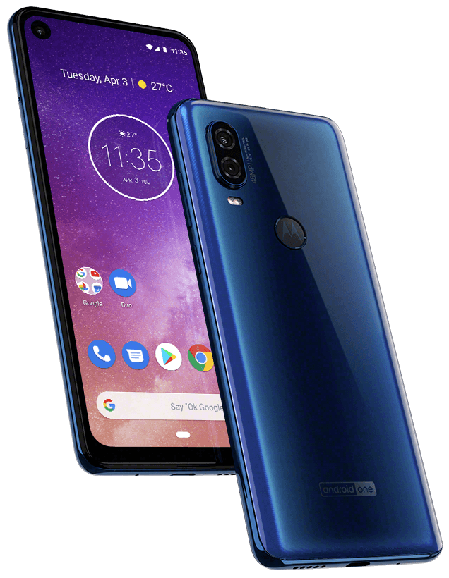 Motorola One Vision har en 6,3-tums skärm i Full HD+-upplösning och 21: 9-format, vilket gör den lite mer avlång än de flesta andra telefoner. Foto: Motorola